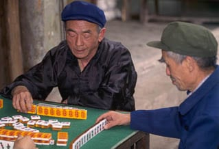 Majong players Chongqing China