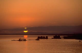 Sunset Irrawaddy River Myanmar Burma