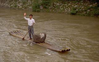 Bamboo raft Guilin China