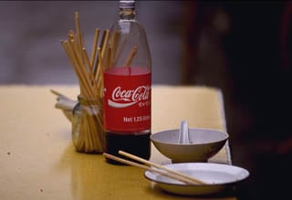 Coke and chopsticks China