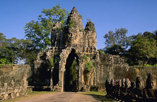 Roadway to Bayon in Angkor Wat Cambodia