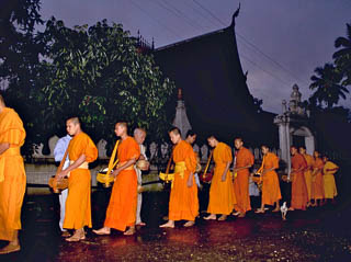 Monks at sunrise