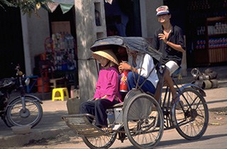 Cyclo ride in Hanoi