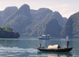 Boats on Ha Long Bay Vietnam