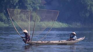 Fisherman Perfume River Hue Vietnam